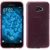 Silikon Hülle Galaxy A3 2017 transparent rosa + 2 Schutzfolien