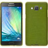 Silikon Hülle Galaxy A3 (A300) brushed pastellgrün + 2 Schutzfolien