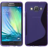 Silikon Hülle Galaxy A3 (A300) S-Style lila + 2 Schutzfolien