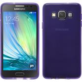 Silikon Hülle Galaxy A3 (A300) transparent lila + 2 Schutzfolien