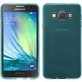 Silikon Hülle Galaxy A3 (A300) transparent türkis + 2 Schutzfolien