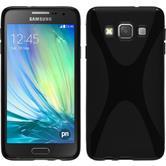 Silikon Hülle Galaxy A3 (A300) X-Style schwarz