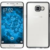 Silikon Hülle Galaxy A5 (2016) A510 Slim Fit grau + 2 Schutzfolien