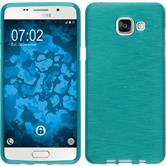 Silikon Hülle Galaxy A5 (2016) A510 brushed blau + 2 Schutzfolien