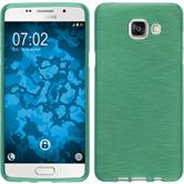 Silikon Hülle Galaxy A5 (2016) A510 brushed grün + 2 Schutzfolien