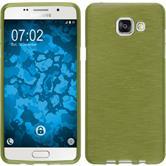 Silikon Hülle Galaxy A5 (2016) A510 brushed pastellgrün + 2 Schutzfolien