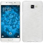 Silikon Hülle Galaxy A5 (2016) A510 brushed weiß + 2 Schutzfolien