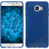 Silikon Hülle Galaxy A5 (2016) A510 S-Style blau + 2 Schutzfolien
