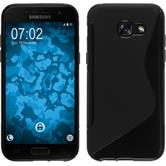 Silikon Hülle Galaxy A5 2017 S-Style schwarz + 2 Schutzfolien