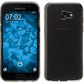 Silikon Hülle Galaxy A5 2017 transparent grau + 2 Schutzfolien