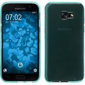 Silikon Hülle Galaxy A5 2017 transparent türkis + 2 Schutzfolien