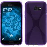 Silikon Hülle Galaxy A5 2017 X-Style lila + 2 Schutzfolien