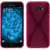 Silikon Hülle Galaxy A5 2017 X-Style pink + 2 Schutzfolien