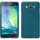 Silikon Hülle Galaxy A5 (A500) brushed blau + 2 Schutzfolien