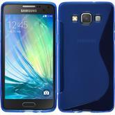 Silikon Hülle Galaxy A5 (A500) S-Style blau