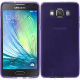 Silikon Hülle Galaxy A5 (A500) transparent lila + 2 Schutzfolien
