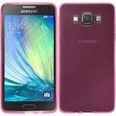 Silikon Hülle Galaxy A5 (A500) transparent rosa + 2 Schutzfolien