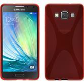 Silikon Hülle Galaxy A5 (A500) X-Style rot