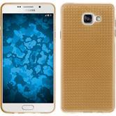 Silikon Hülle Galaxy A7 (2016) A710 Iced gold + 2 Schutzfolien