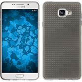 Silikon Hülle Galaxy A7 (2016) A710 Iced grau + 2 Schutzfolien