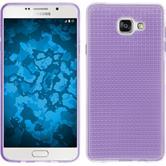 Silikon Hülle Galaxy A7 (2016) A710 Iced lila + 2 Schutzfolien