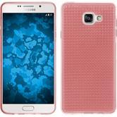 Silikon Hülle Galaxy A7 (2016) A710 Iced rosa + 2 Schutzfolien