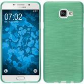 Silikon Hülle Galaxy A7 (2016) A710 brushed grün + 2 Schutzfolien