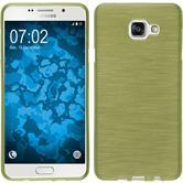 Silikon Hülle Galaxy A7 (2016) A710 brushed pastellgrün + 2 Schutzfolien
