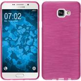 Silikon Hülle Galaxy A7 (2016) A710 brushed pink + 2 Schutzfolien