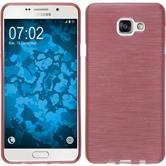 Silikon Hülle Galaxy A7 (2016) A710 brushed rosa + 2 Schutzfolien
