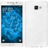 Silikon Hülle Galaxy A7 (2016) A710 brushed weiß + 2 Schutzfolien