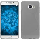 Silikon Hülle Galaxy A7 (2016) A710 S-Style clear + 2 Schutzfolien