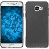 Silikon Hülle Galaxy A7 (2016) A710 S-Style grau + 2 Schutzfolien
