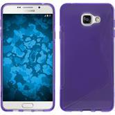 Silikon Hülle Galaxy A7 (2016) A710 S-Style lila + 2 Schutzfolien