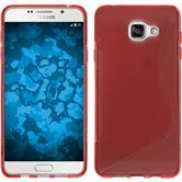 Silikon Hülle Galaxy A7 (2016) A710 S-Style rot + 2 Schutzfolien