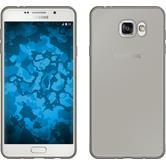 Silikon Hülle Galaxy A7 (2016) A710 Slimcase grau + 2 Schutzfolien