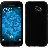 Silikon Hülle Galaxy A7 (2017)  schwarz + 2 Schutzfolien