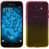 Silikon Hülle Galaxy A7 (2017) Ombrè Design:01 + 2 Schutzfolien