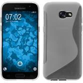 Silikon Hülle Galaxy A7 (2017) S-Style clear + 2 Schutzfolien