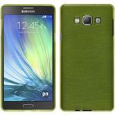 Silikon Hülle Galaxy A7 (A700) brushed pastellgrün + 2 Schutzfolien