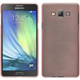Silikon Hülle Galaxy A7 (A700) brushed rosa + 2 Schutzfolien