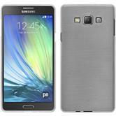 Silikon Hülle Galaxy A7 (A700) brushed weiß + 2 Schutzfolien