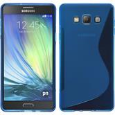 Silikonhülle für Samsung Galaxy A7 (A700) S-Style blau