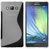 Silikon Hülle Galaxy A7 (A700) S-Style clear + 2 Schutzfolien