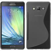 Silikonhülle für Samsung Galaxy A7 (A700) S-Style grau