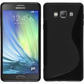 Silikon Hülle Galaxy A7 (A700) S-Style schwarz