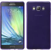 Silikon Hülle Galaxy A7 (A700) transparent lila + 2 Schutzfolien