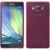 Silikon Hülle Galaxy A7 (A700) transparent rosa + 2 Schutzfolien