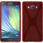 Silikon Hülle Galaxy A7 (A700) X-Style rot