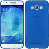 Silikon Hülle Galaxy A8 (2015) S-Style blau Case